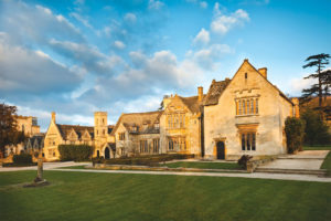a photo of the Exterior of Ellenborough Park at sunset