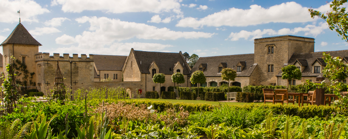 a photo of the ellenborough park hotel grounds in the summer