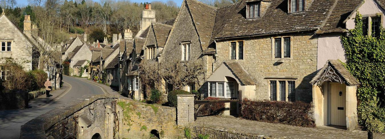 a photo of castle combe in the cotswolds