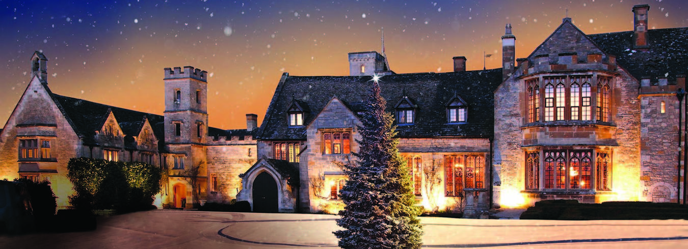 Cotswolds Christmas scene