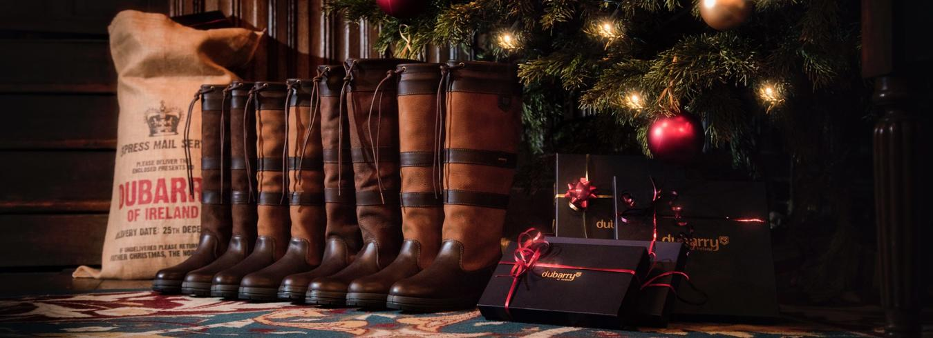 Dubarry boots under the Christmas Tree
