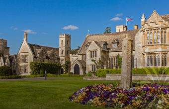 a photo of the exterior of ellenborough park hotel in spring