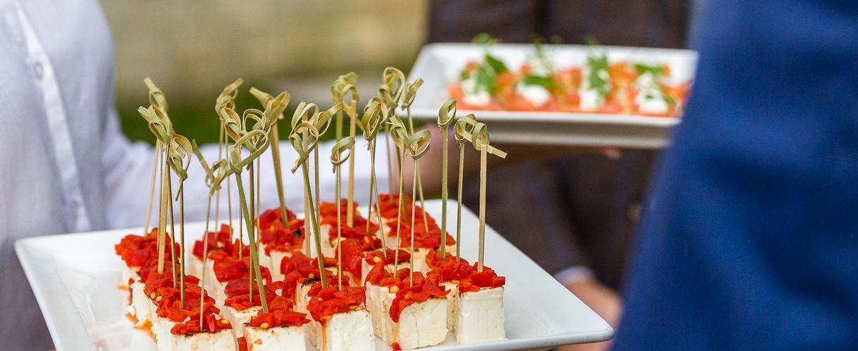 this is a photo of cheese with sun dried tomatoes canapes