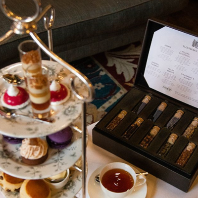 this is a photo of afternoon tea with a selection of different teas
