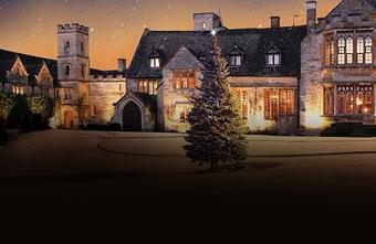 a photo of the exterior of ellenborough park hotel at Christmas